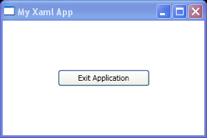 The implementation of our button's Click event handler in Xaml