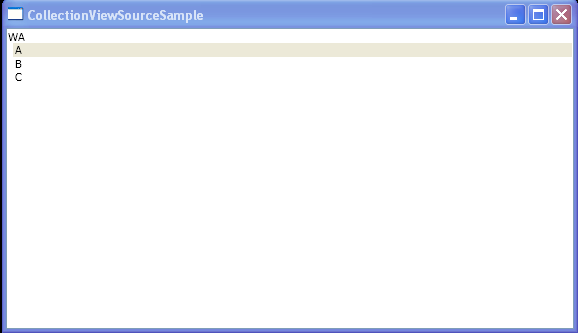 Use CollectionViewSource to sort and group data in XAML.