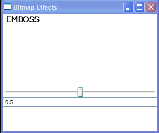 Use Slider to control the Emboss