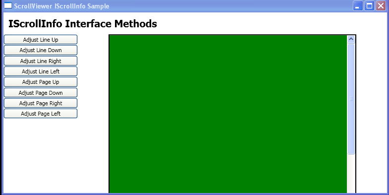 Use the methods that are defined by the IScrollInfo interface to scroll the child content of a StackPanel.