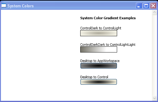 using system colors to create gradients