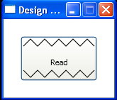 XAML Button with Polyline and Label