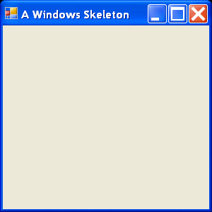 A form-based Windows Skeleton
