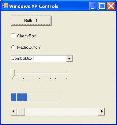 WindowsXP controls
