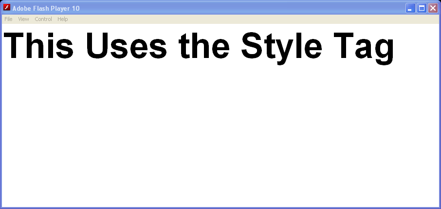 CSS Style Tag