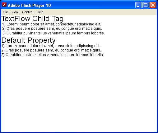 Create TextFlow Child Tags