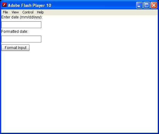 DateField Formatter