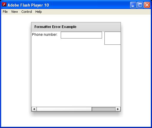 Formatter Error
