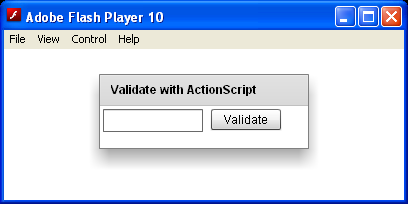 Validate Email With ActionScript