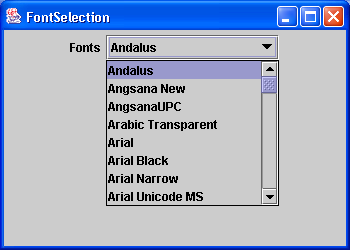 List all available fonts in the system
