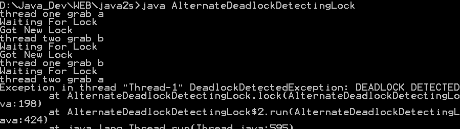 ReentrantLock: test for deadlocks