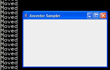 AncestorListener Demo