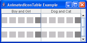 Animated Icon Table Example