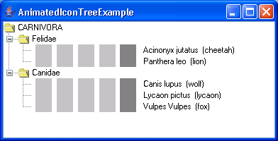 Animated Icon Tree Example