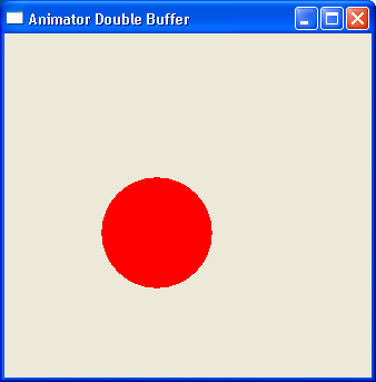 Demonstrates animation. It uses double buffering.
