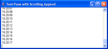 Appending TextPane