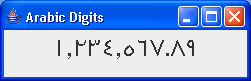 Formatting Messages: Arabic Digit