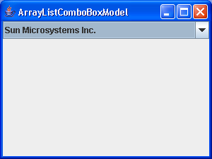 ArrayListComboBoxModel Demo