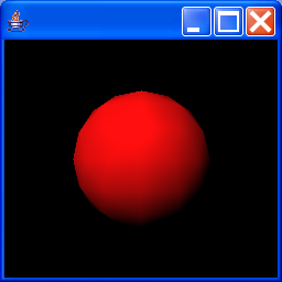 Illustrates how to display a ball lit by a red light