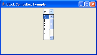 Block ComboBox Example