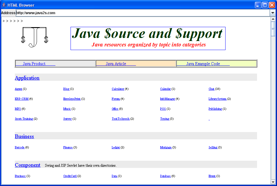 Access client web browser from java