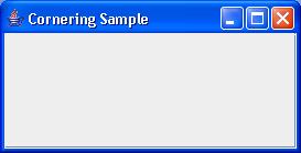 JScrollPane: Button Corner Sample