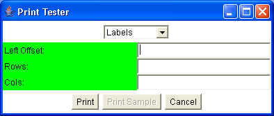 PrintPanel is the base for an open-ended series of classes