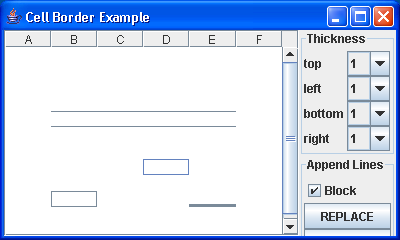 Cell Border Table Example