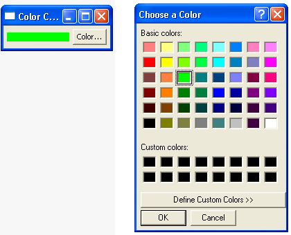 Demonstrates the ColorDialog class