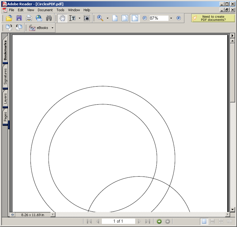 Using PdfContentByte to draw Circles