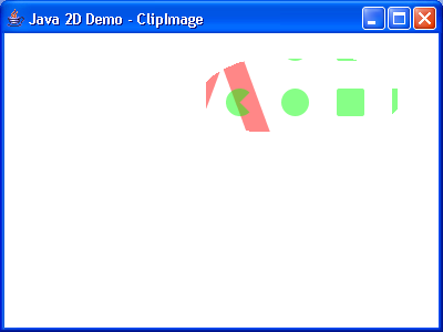 Animated clipping of an image and shapes with alpha