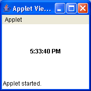 Applet clock demo