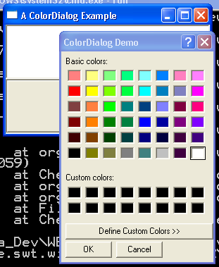 Color Dialog Example