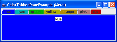 Color TabbedPane Example