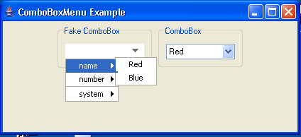 ComboBox Menu Example
