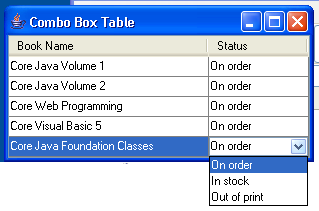 ComboBox Table