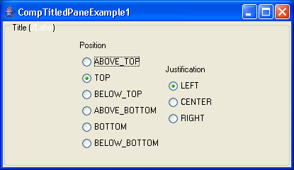 Component TitledPane Example 1