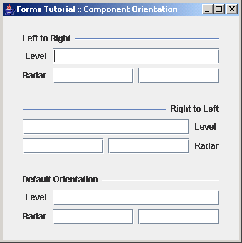 Build panels component orientation: left-to-right vs. right-to-left