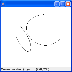 Draw curve with mouse