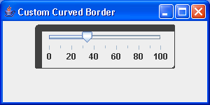 demonstrate the custom CurvedBorder class
