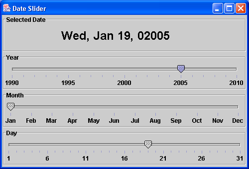 Date slider