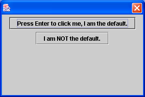 Default button for dialog: press Enter to activate