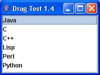 Drag capabilities: JList