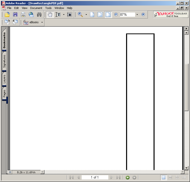 Line Drawing Java : Drawing rectangle « pdf rtf java