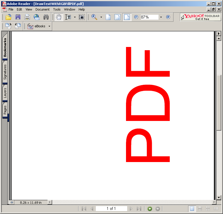 Drawing Text with RGB Fill