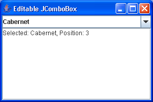 Editable ComboBox