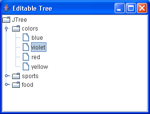 extends DefaultTreeCellEditor to create Tree Leaf editor