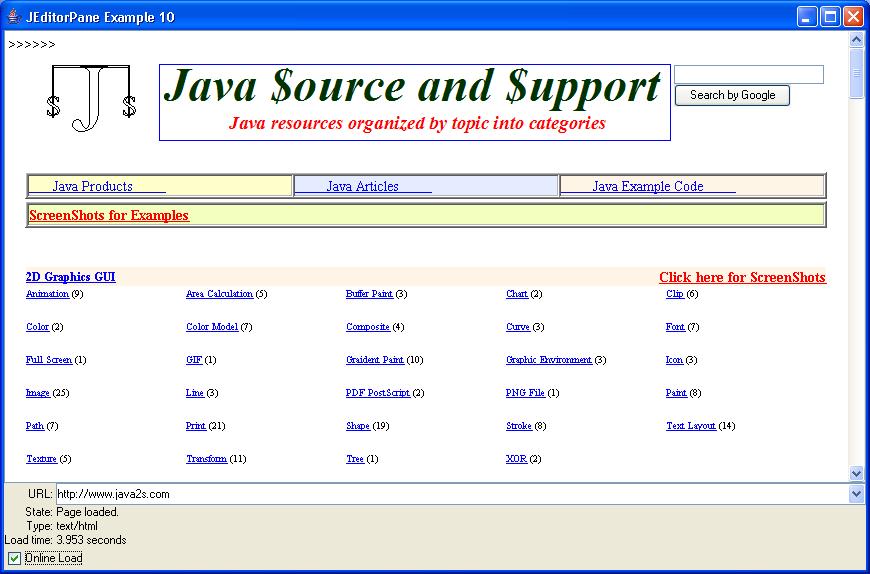 EditorPane Example 10