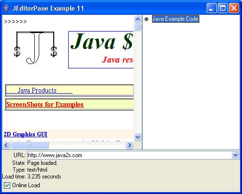 JEditorPane Example 11