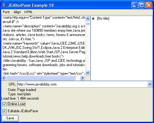 JEditorPane Example 18